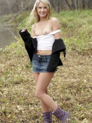 Private School Jewel Naked Outside
