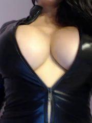 Kayla Kiss Latex Cat Suit